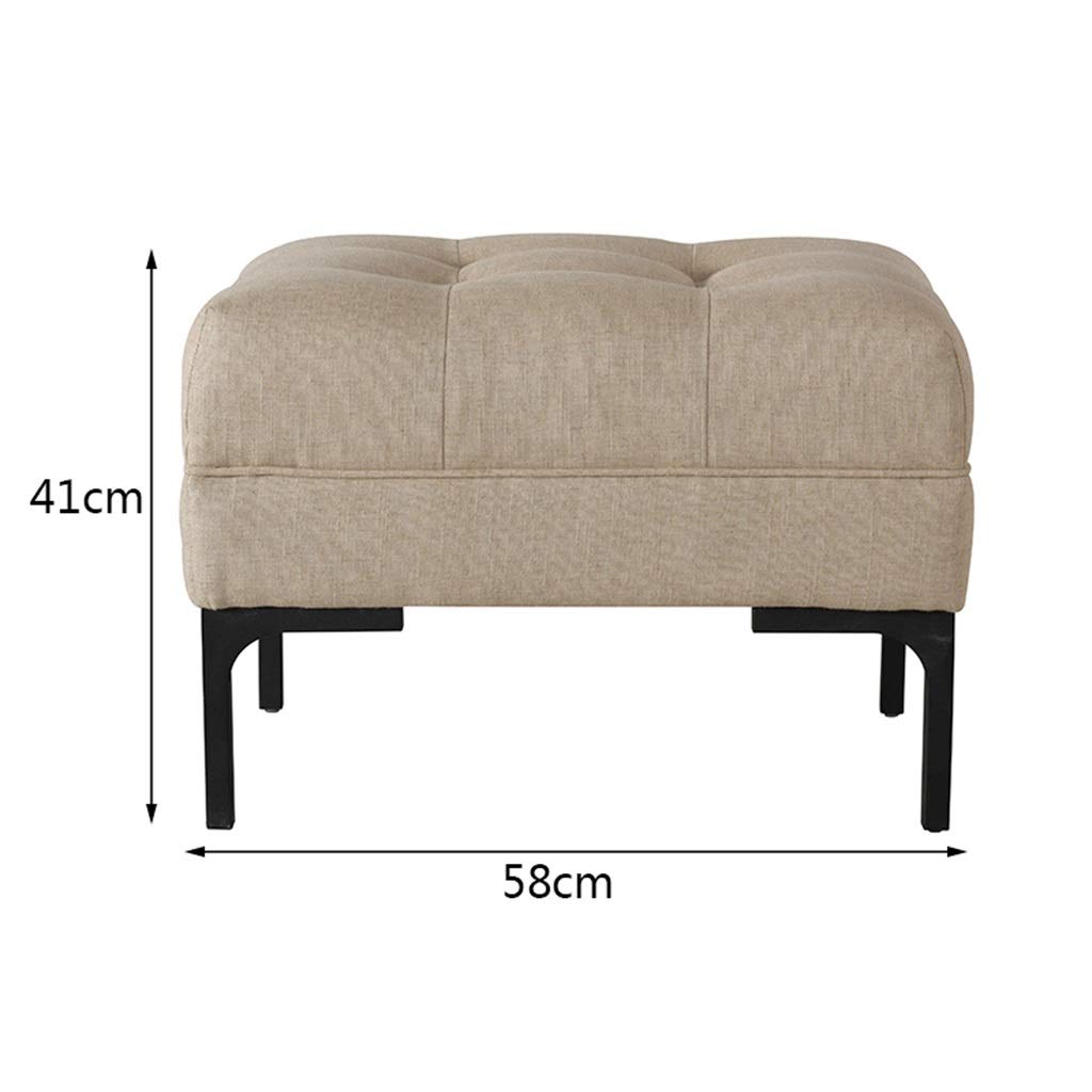 Amazon com leisure home sofa bench small living room entrance hall modern minimalist change footstool creative khaki kitchen dining