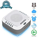 White Noise Machine for Sleeping, Sound Machine with Night Light Portable Natural Sleep Sound Therapy Sound Machine Travel Sleep Auto-Off Timer for Baby Kids Adults Toddler Home Office Privacy