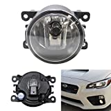 iJDMTOY (1) Halogen Fog Lamp Replacement For Acura Honda Ford Nissan Subaru, w/ (1) 55W H11 Halogen Bulb, Good for LH or RH