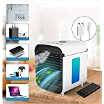 Nifogo-condizionatore-Portatile-Air-Cooler-Purificatore-d-Ari-Blu-LED-dellAria-Umidificatore-Ventilatore-ad-Aria-Condizionata-per-CasaUfficio-Bianco