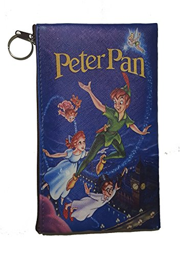 (Disney Little Mermaid, Snow White, Alice in Wonderland, Lilo & Stitch, Beauty and the Beast, Peter Pan, Frozen, Mickey & Minnie, Villains Zipper Pouch (8inch x 4inch) (Peter Pan))