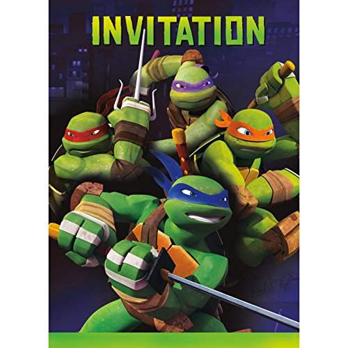 Ninja Turtles Invitations (8 Count)]()
