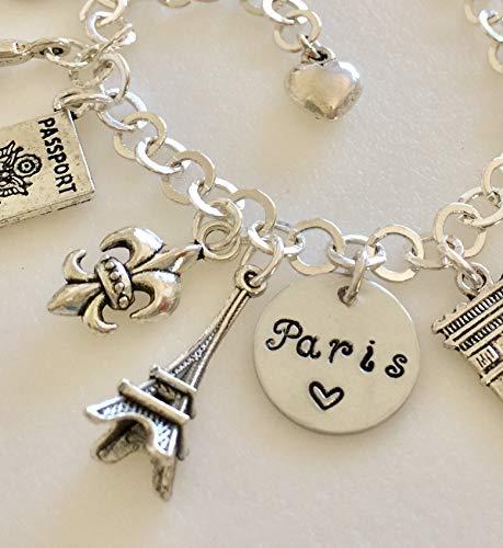 Paris Charm Bracelet, Paris Trip, Paris Lover, Paris Souvenir, School Year In Paris, Paris Memories, Parisian Life Charms, Paris Honeymoon. I Love Paris. (Parisian Memories)