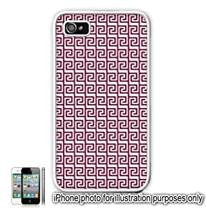 Maroon Tribal Aztec Mayan Pattern Apple iPhone 4 4S Case Cover Skin White