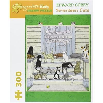 Edward Gorey - Seventeen Cats: 300 Piece Puzzle (Pomegranate Artpiece Puzzle): Gorey, Edward: Toys & Games
