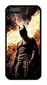 iPhone 5 5s Case, Slim Thin Shockproof Dark Knight Rises IP5 Case fit for iPhone 5 5s Ultra Protective Back Rubber Cover Impact Protection for iPhone 5 5s (Black)