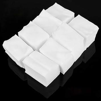900 Algodón Celuloso Toallitas Limpiador Uñas Blanco Manicura: Amazon.es: Belleza