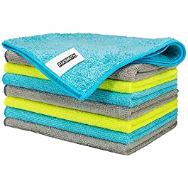 FIXSMITH Microfiber Cleaning Cloth – Pack of 8, Size: 12 x 16 in, Multi-Functional Cleaning Towels, Highly Absorbent…