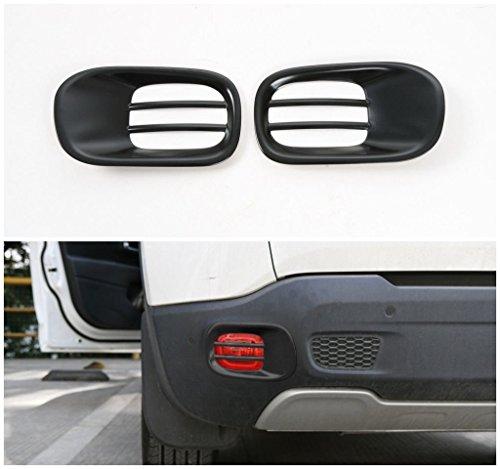 2 Car Abs Black Rear Fog Light Cover Frame Trims for Jeep Renegade 2015-2016