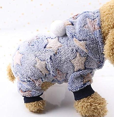 Ropa para Perros Pijamas Traje cálido Traje de Perro Suéter ...