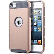 iPod Touch 6 & 5 Case, Asstar Heavy Duty Case for Apple iPod Touch 6th Generation_2015 Released, 2-Piece Style Hybrid Hard Cover (Gold Grey)