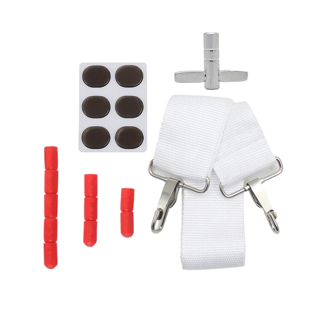 D DOLITY Snare Drum Wrench +Belt Hook+Stick Cover +Mute Pads Parts 4 Pieces of Set