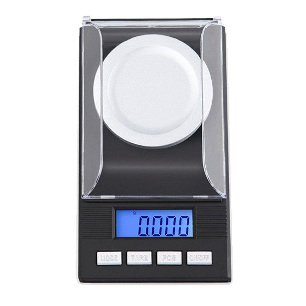 Zorvo Mini 0.001g x 50g Milligram Precision 1mg Digital Pocket jewelry scales diamond gold portable electronic carat Lab Powder weigh scales Calibration Weight LCD display