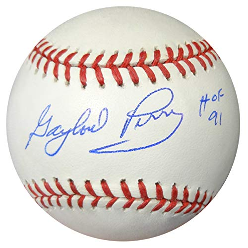 GAYLORD PERRY AUTOGRAPHED OFFICIAL MLB BASEBALL SAN FRANCISCO GIANTS'HOF 91' PSA/DNA STOCK #4634