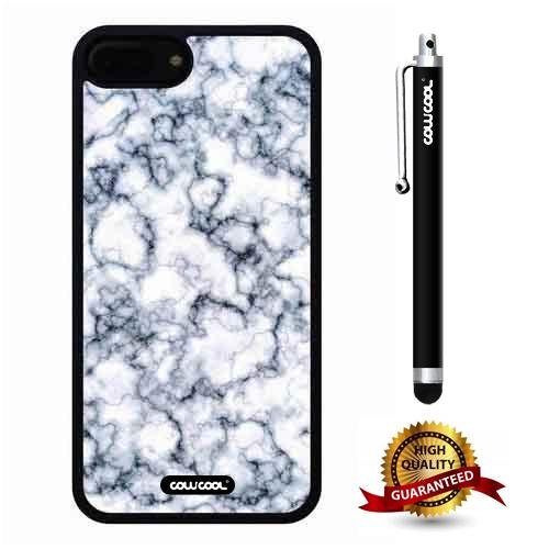 iphone 8 Plus Case, iphone 7 Plus Case, Marble Pattern Case, Cowcool Ultra Thin Soft Silicone Case for Apple iphone 7 8 Plus - Pigment Dilution Marble Texture (High Olive Cream 1 Pigment)