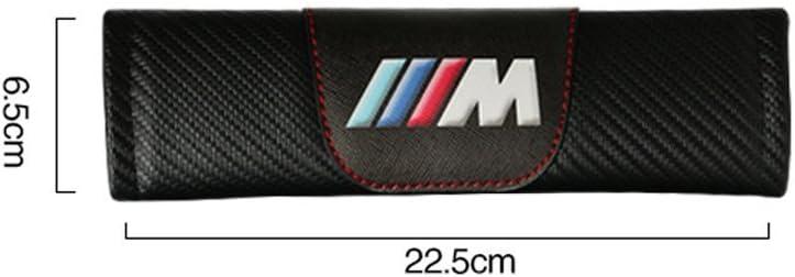 2 pcs OYADM Customization Carbon Fiber Seat Belt Cover Shoulder Pad Cushion for BMW