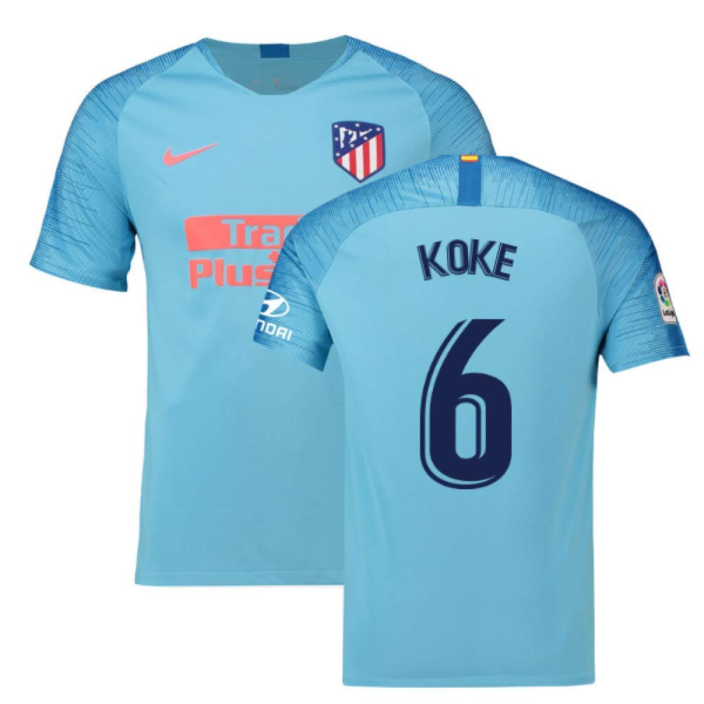 2018-2019 Atletico Madrid Away Nike Football Soccer T-Shirt Trikot (Koke 6)