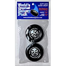 NEW & Improved Slick Shinny Indoor Mini Knee Carpet Shinny Hockey Puck Safe Soft Kids Toy 2-pack Great Gift