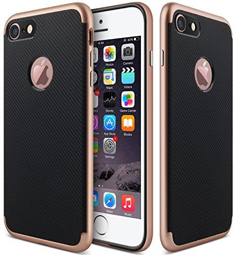 iPhone 7 Case,iPhone 8 Case,CLONG [Slim-Fit] TPU/PC Shock-Absorption Bumper Anti-Scratch Case Cover for Apple iPhone 7 / iPhone 8 (4.7inch) - Rose Gold