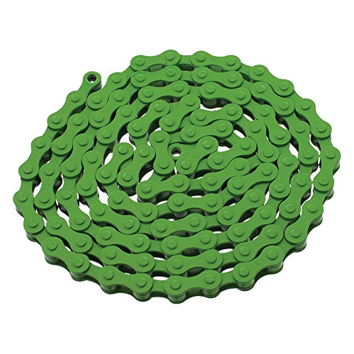 - YBN S410 Bicycle Chain (1-Speed, 1/2 x 1/8-Inch, 112L) , Various Colors (Green)