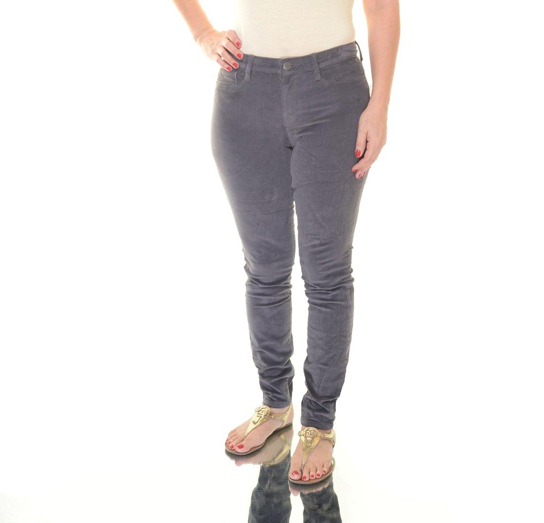 Maison Jules Womens Mid-Rise Skinny Corduroy Pants