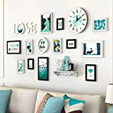 Home@Wall photo frame Wood Photo Frames ,13 Pcs/sets Collage Photo Frame Set,Vintage Picture Frames,Family Picture Frame Wall DIY Photo Frame Sets For Wall ( Color : A )