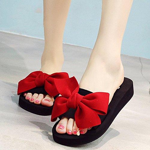 Mujeres Señoras Sandalias Zapatillas de deslizamiento de verano Zapatos planos de playa de arena Zapatillas Cómodo ( Color : 1004 , Tamaño : 37 ) 1003