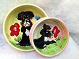 8''/6'' Pet Bowls for Food/Water. Personalized at no Charge. Signed by Artist, Debby Carman.