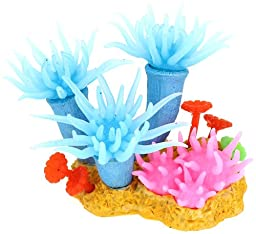 Uxcell Fish Tank Manmade Coral Decoration, 12cm, Blue