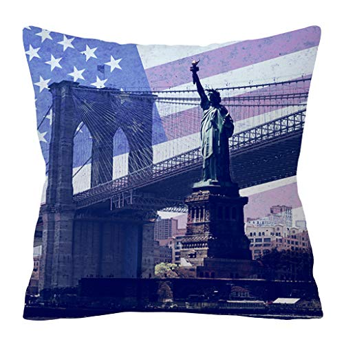 QBQCBB Independence Day 4th of July Pillow Cases Sofa Cushion Cover Home Pillow Case(C) (Games For Independence Day Celebration In Office)