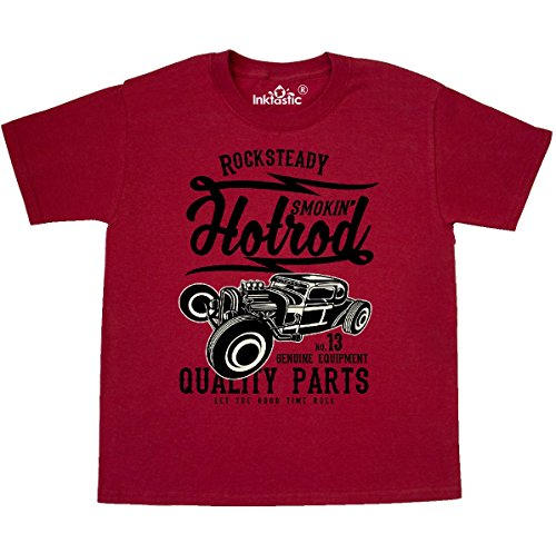 Inktastic - Smokin Hotrod Youth T-Shirt Youth Small (6-8) (Red Hot Rod)