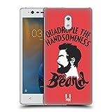 Head Case Designs Go Beard Bearded Bravado Hard Back Case for Nokia 3