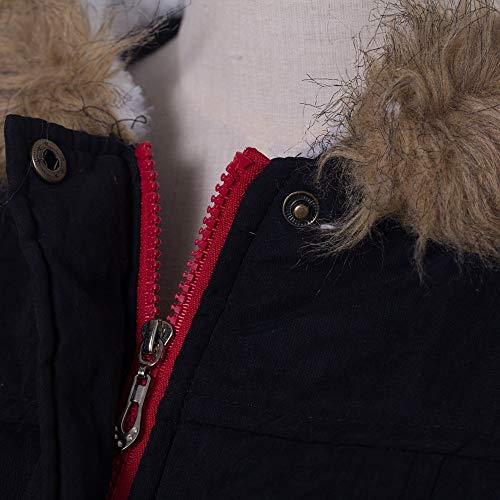 Coat Fourrure Coton Femmes de Chic Slim Sports Manteaux Manteau Capuche Collier Femme Tops Winter T Noir dcontract POTTOA Automne Shirt Veste Blouse Parka Sweatshirt Vrac Long Casual Femmes Pull qXwnE