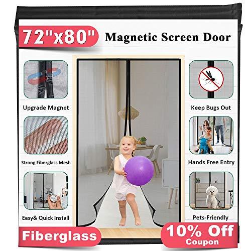 """72""""x80"""" Fiberglass Magnetic Screen Door"""