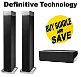 Definitive Technology BP9080x High-Performance Tower Speaker (Pair) With CS9080 High-Performance Center Channel Speaker Bundle