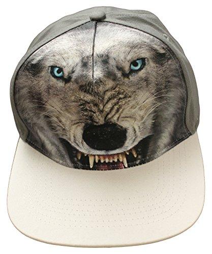Wolf Sublimation Premium Snap Back Baseball Cap Hat, One Size