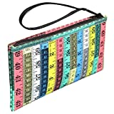 Wristlet Made From Colorful Measuring Tapes Prime fun gift for woman who likes sewing kits for adults travel bag craft basket box sew accessories and supplies thread storage case tape measure supply