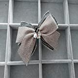 usongs Simple classical elegant original bow hair accessories hairpin hair clamping collar top edge clamps rubber band