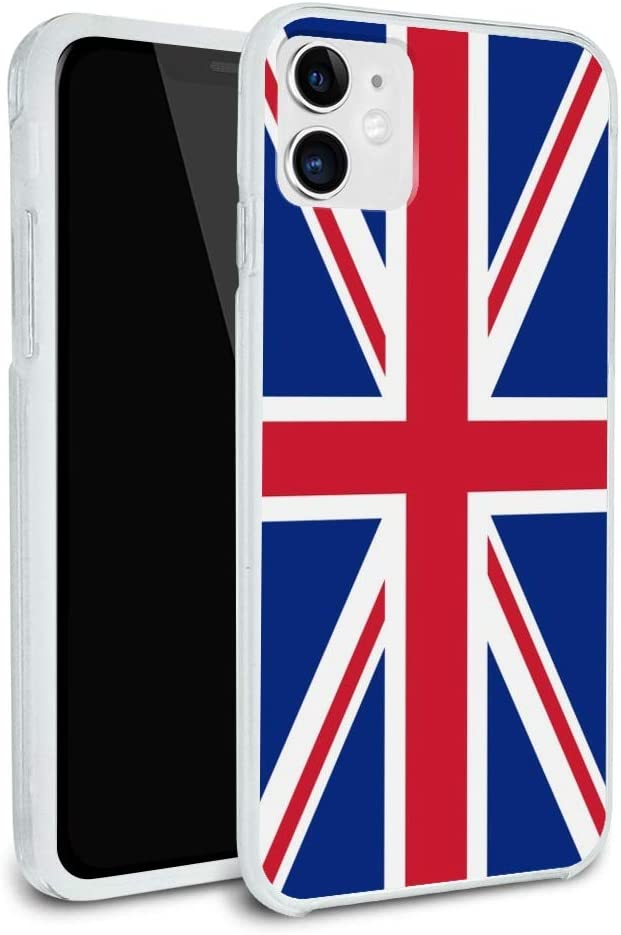 United Kingdom Great Britain Union Jack Country Flag Protective Slim Fit Hybrid Rubber Bumper Case Fits Apple iPhone 8, 8 Plus, X, 11, 11 Pro,11 Pro Max