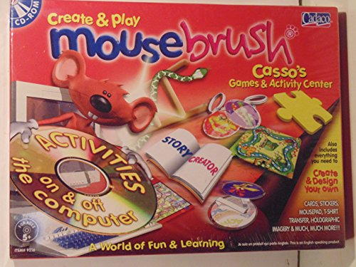 Mousebrush Casso's Games & Activity Center- Cards, Stickers, Mousepad, T-Shirt Transfer, Holographic Imagery and More