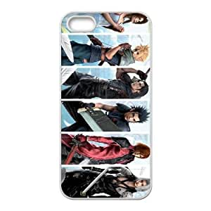 Crisis core final fantasy 7 001 iPhone 5 5s Cell Phone Case White custom made pgy007-9959128