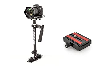 FCM-2000-QR Flowcam 2000 Handheld Camera Stabilizer Steadycam with Metal Quick Release Plate for DV HDV DSLR Sony Nikon Canon Cameras Upto 6 lbs with Storage Bag