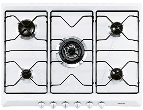Smeg SRV576EB7 Incasso Gas Bianco piano cottura: Amazon.it ...