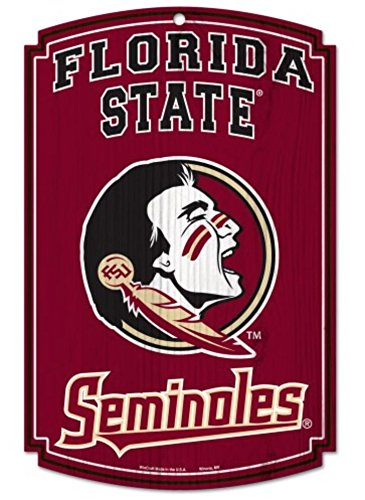 NCAA Official Florida State University Seminoles 11'' x 17'' Wood Sign by WinCraft