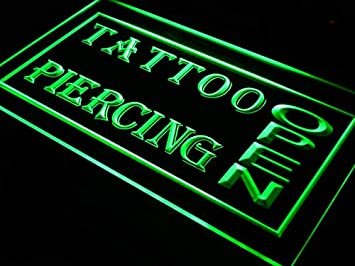 Amazon.com: ADVPRO i213-g Open Tattoo Piercing Shop New Neon ...