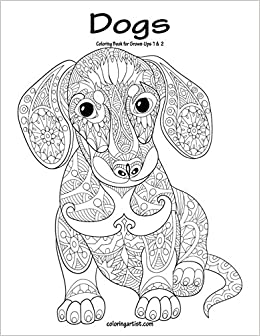 Amazon.com: Dogs Coloring Book for Grown-Ups 1 & 2 (9781537162744 ...