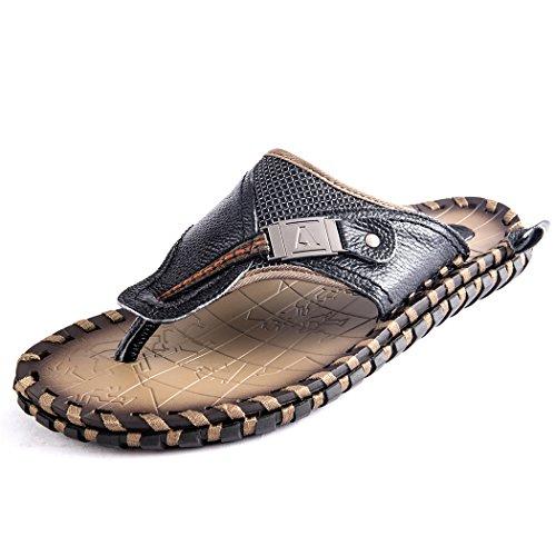 e5624028e20 Autumn Melody Fashion Outdoor Casual Personalize Exquisite Handmade Genuine  Leather Men s Sandals