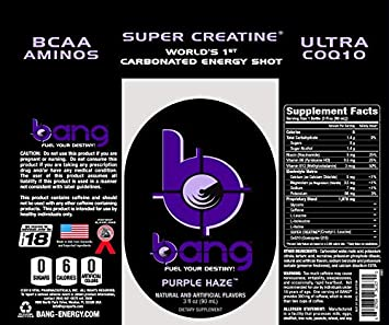 VPX Bang Shot World s First Carbonated Energy Shot Purple Haze 24 3fl oz Shots