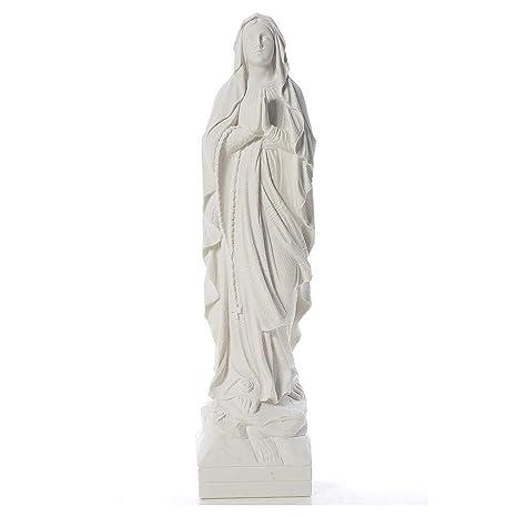 Polvere Di Marmo.Statua Madonna Lourdes 70 Cm Polvere Di Marmo Amazon It