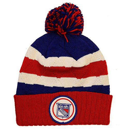 a6728951375 ... coupon code for nhl mitchell ness jersey stripe hi five knit hat with  pom one size